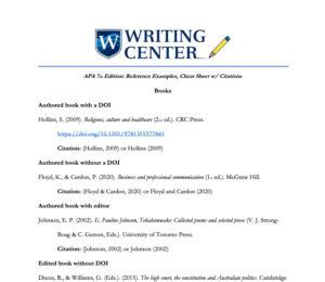 APA 7th Edition: References